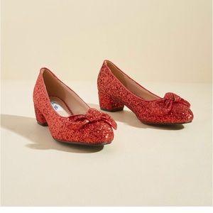 Modcloth glitter heels